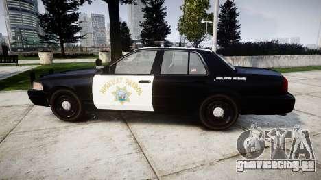 Ford Crown Victoria Highway Patrol [ELS] Liberty для GTA 4 вид слева