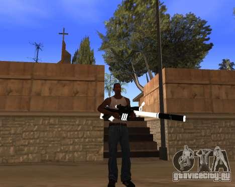 White Chrome Gun Pack для GTA San Andreas десятый скриншот