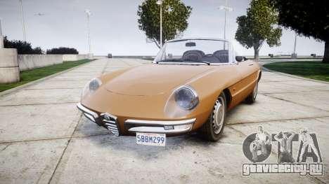 Alfa Romeo Spider 1966 для GTA 4