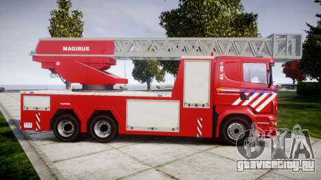 Scania R580 Dutch Fireladder [ELS] для GTA 4 вид слева