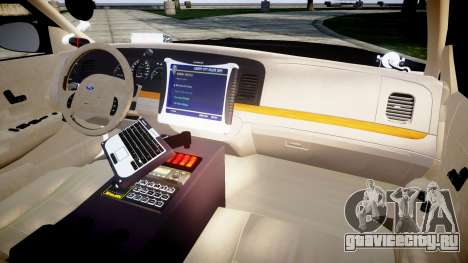 Ford Crown Victoria LAPD [ELS] для GTA 4 вид сзади