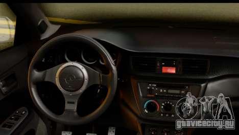 Mitsubishi Lancer Evo IX для GTA San Andreas вид справа
