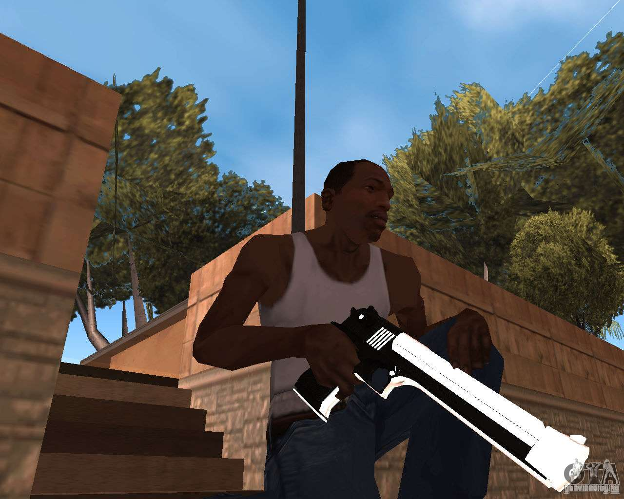 White chrome gun pack для gta san andreas седьмой