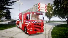 Scania R580 Dutch Fireladder [ELS] для GTA 4