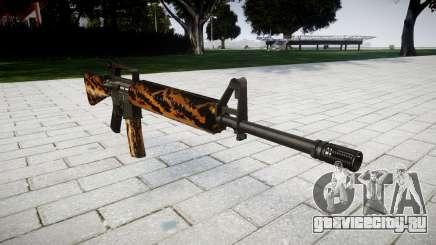 Винтовка M16A2 tiger для GTA 4