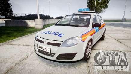 Vauxhall Astra 2005 Police [ELS] Britax для GTA 4