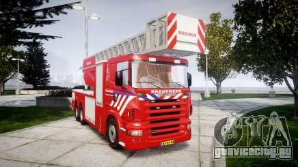 Scania R580 Dutch Fireladder [ELS] для GTA 4