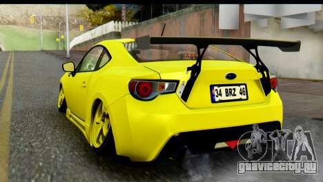 Subaru BRZ 2013 для GTA San Andreas