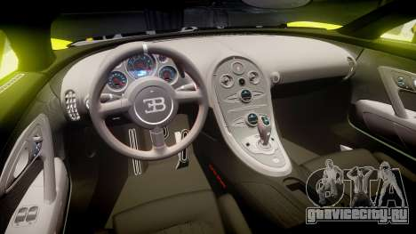 Bugatti Veyron Super Sport 2011 [EPM] Ken Block для GTA 4 вид изнутри