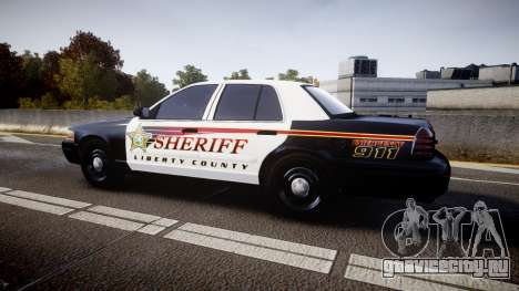 Ford Crown Victoria Sheriff [ELS] rims1 для GTA 4 вид слева