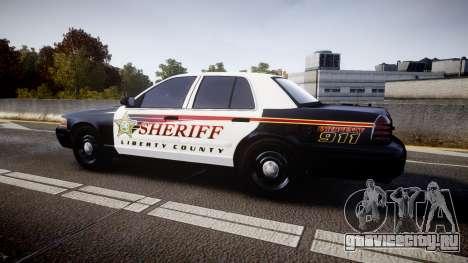 Ford Crown Victoria Sheriff [ELS] rims1 для GTA 4 вид слева