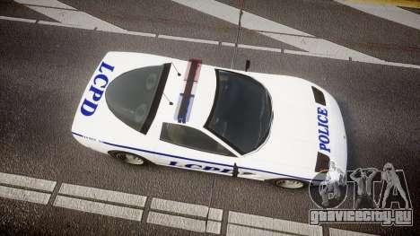 Invetero Coquette Police Interceptor [ELS] для GTA 4 вид справа
