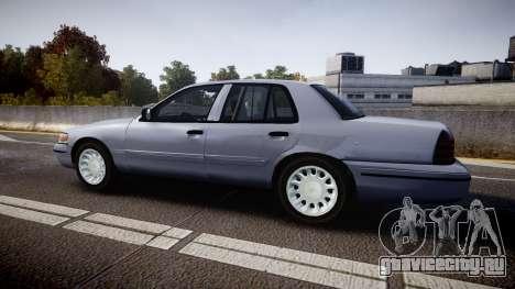 Ford Crown Victoria Unmarked Police [ELS] для GTA 4 вид слева