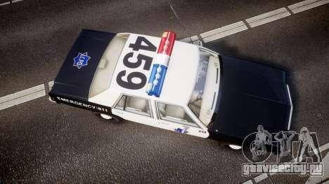 Ford LTD Crown Victoria 1987 LCPD [ELS] для GTA 4 вид справа