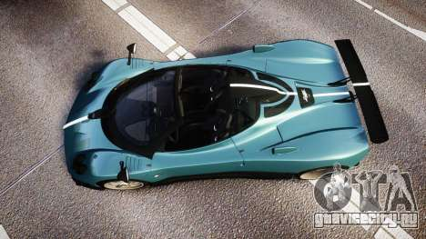 Pagani Zonda Cinque Roadster 2010 для GTA 4 вид справа