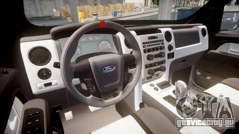 Ford F150 SVT Raptor 2011 Horizon для GTA 4 вид сзади
