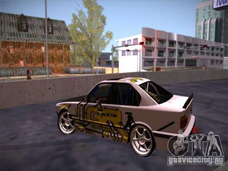 BMW M5 E34 Grip Runners Team для GTA San Andreas вид изнутри