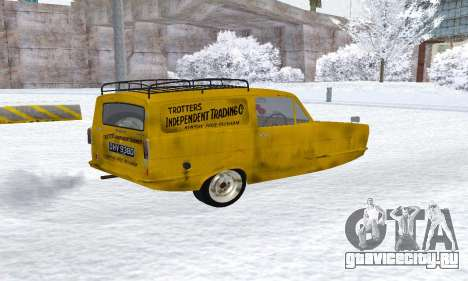 Reliant Supervan Only Fools and Horses для GTA San Andreas вид сзади слева