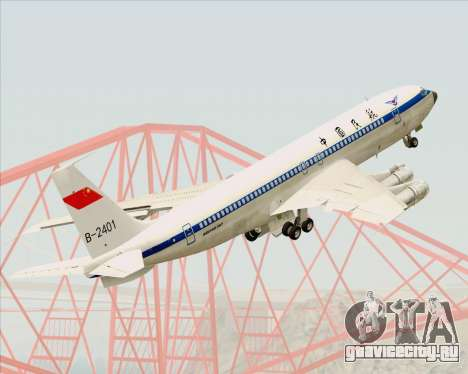 Boeing 707-300 CAAC для GTA San Andreas вид сверху