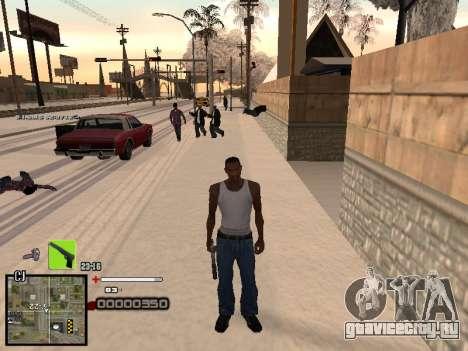 Простенький C-HUD для GTA San Andreas третий скриншот