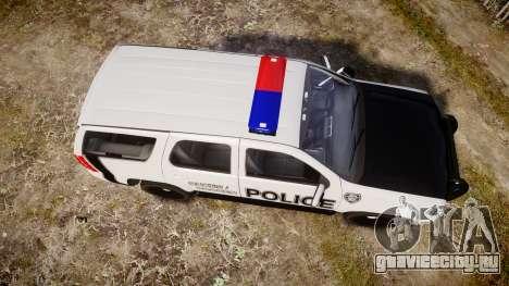 Chevrolet Tahoe 2010 Sheriff Dukes [ELS] для GTA 4 вид справа