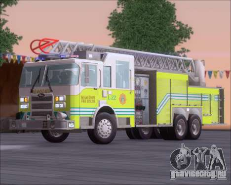 Pierce Arrow XT Miami Dade FD Ladder 22 для GTA San Andreas