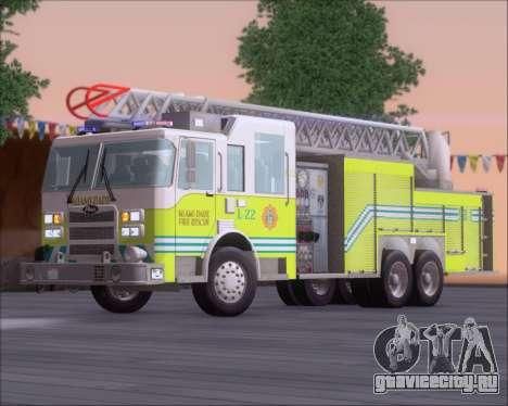 Pierce Arrow XT Miami Dade FD Ladder 22 для GTA San Andreas