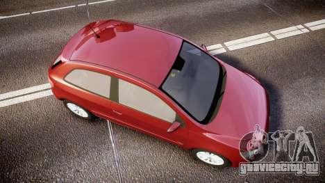 Volkswagen Gol G6 iTrend 2014 rims1 для GTA 4 вид справа