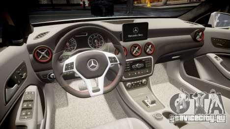Mersedes-Benz A45 AMG PJs3 для GTA 4 вид сбоку