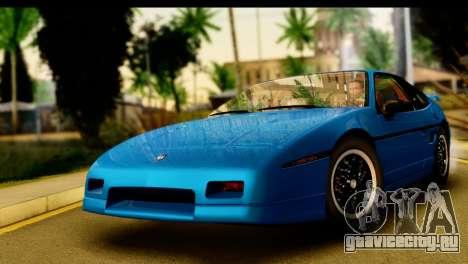 Pontiac Fiero GT G97 1985 IVF для GTA San Andreas вид сзади слева