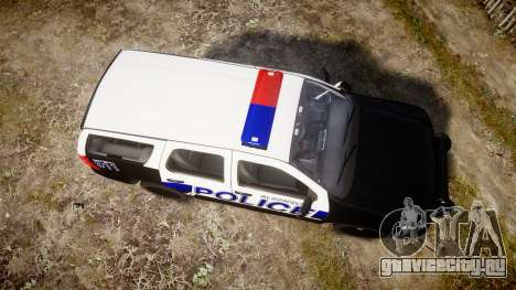 Chevrolet Tahoe 2010 Police Algonquin [ELS] для GTA 4 вид справа