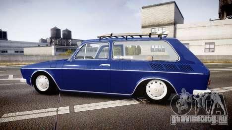 Volkswagen 1600 Variant 1973 для GTA 4 вид слева