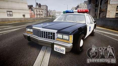 Ford LTD Crown Victoria 1987 LCPD [ELS] для GTA 4