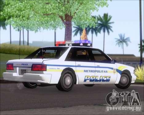 Police LS Metropolitan Police для GTA San Andreas вид справа