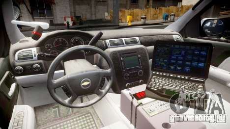 Chevrolet Tahoe 2010 Sheriff Dukes [ELS] для GTA 4 вид сзади