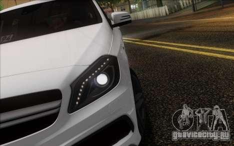 Mercedes-Benz A45 AMG для GTA San Andreas вид снизу