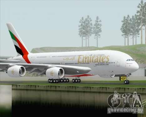 Airbus A380-800 Emirates (A6-EDH) для GTA San Andreas вид справа