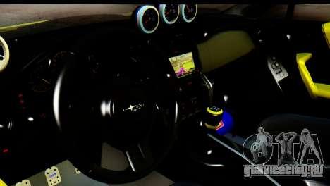 Subaru BRZ 2013 для GTA San Andreas вид сзади