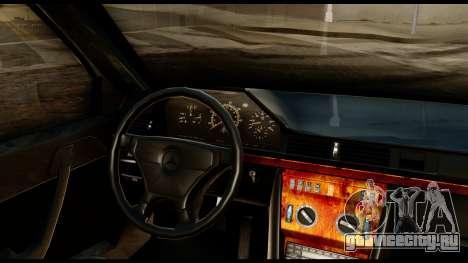 Mercedes-Benz 190E для GTA San Andreas вид сзади