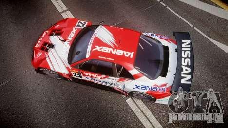 Nissan Skyline R34 2003 JGTC Xanavi для GTA 4 вид справа