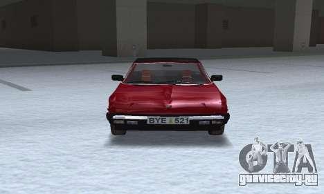Fiat Bertone X1 9 для GTA San Andreas вид сзади
