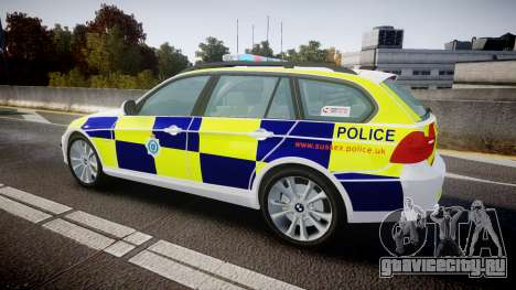 BMW 325d E91 2009 Sussex Police [ELS] для GTA 4 вид слева