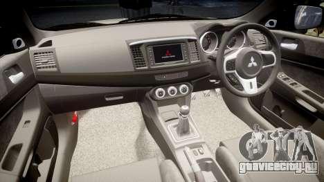 Mitsubishi Lancer Evolution X FQ400 для GTA 4 вид сбоку