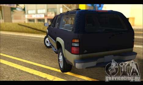 GMC Yukon XL 2003 для GTA San Andreas вид сзади слева