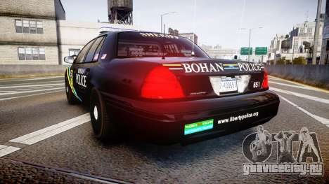 Ford Crown Victoria Sheriff Bohan [ELS] для GTA 4 вид сзади слева