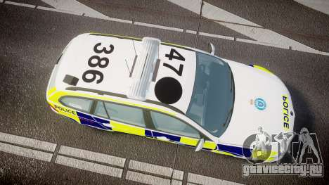 BMW 325d E91 2009 Sussex Police [ELS] для GTA 4 вид справа