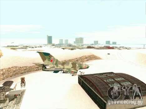 Миг 21 ВВС СССР для GTA San Andreas вид справа