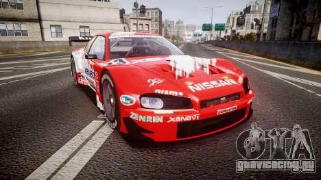 Nissan Skyline R34 2003 JGTC Xanavi для GTA 4
