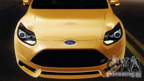 Ford Focus ST 2013 для GTA San Andreas вид изнутри