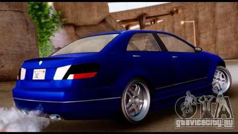 GTA 5 Schafter Bumper для GTA San Andreas вид слева
